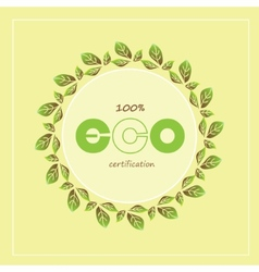 Green eco labels and badges vector
