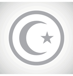 Grey turkey symbol sign icon vector