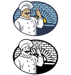 Chef in smiling happy face vector