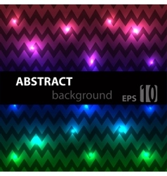 Abstract disco glowing chevron of background vector