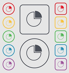 Infographic icon sign symbol on the round and vector