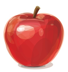 Of red apple vector