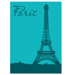 Paris card vector