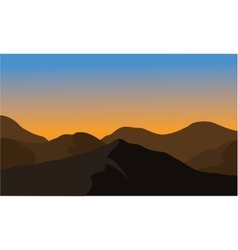 Silhouette of dry mountain vector