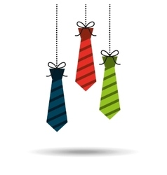 Ties hanging design vector