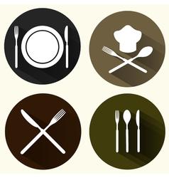 Kitchen signs set vector image