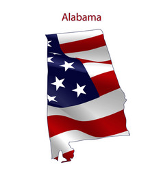 alabama full of american flag vector image