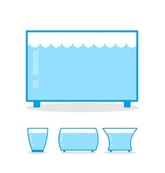 Aquarium empty on white background clear glass jar vector