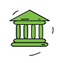 bank icon isolated on white background Cartoon vector image
