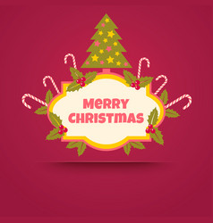 banner with a christmas tree vector image