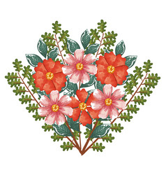 beautiful decoration floral icon vector image