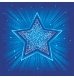 bright star vector image vector image