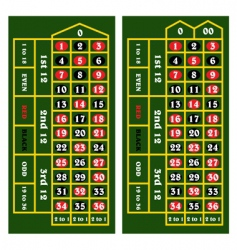 casino table vector image vector image