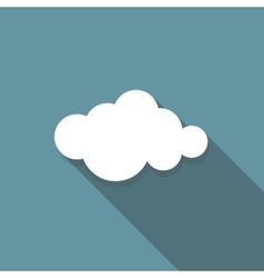 Cloud Flat Icon with Long Shadow vector image