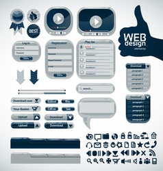 elements for web design vector image