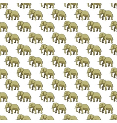 Elephant pattern vector