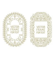 Floral frames with copy space vector