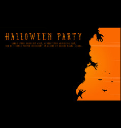 halloween party background greeting card vector image
