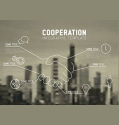 Infographic report template - cooperation vector