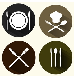 Kitchen signs set vector image