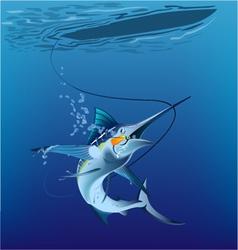 Marlin under the sea vector