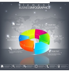 Modern 3d infographic template Can be used for vector image
