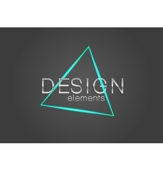 Neon triangle design element vector image vector image