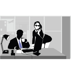 office clerks vector image vector image