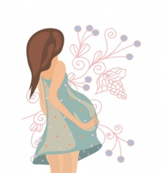 Pregnant floral vector