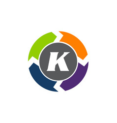 process planner center letter k vector image