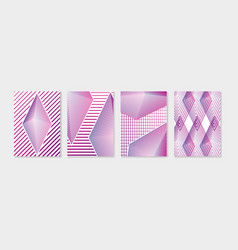 Simple geometric minimal covers design set modern vector