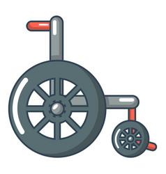Wheelchair icon cartoon style vector