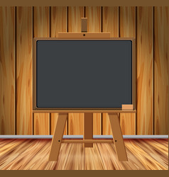 wooden room with chalkboard vector image