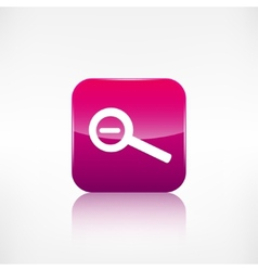 Zoom out icon search loupe vector