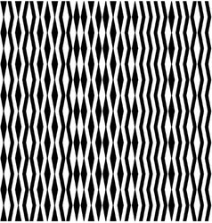 Abstract pattern of black zigzags and rhombuses vector image