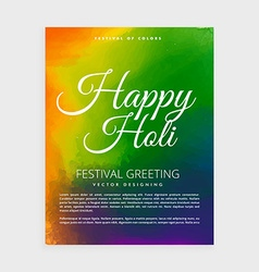 Colorful happy holi poster vector