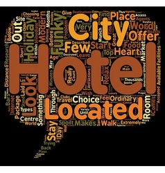The top 10 funky hotels text background wordcloud vector