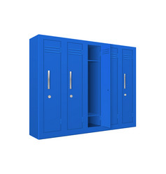 Blue school lockers vector