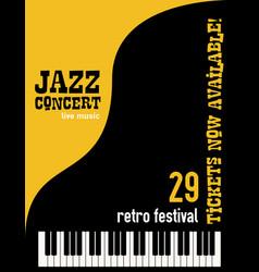 Jazz music festival poster background vector