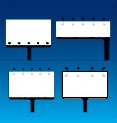 billboards vector image
