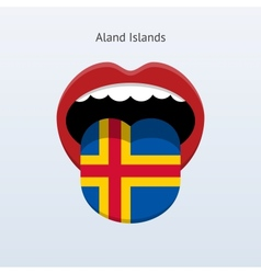Aland islands language abstract human tongue vector