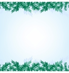 Christmas branches background vector