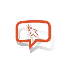 Cursor message sticker orange vector