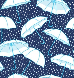 Umbrella pattern background vector