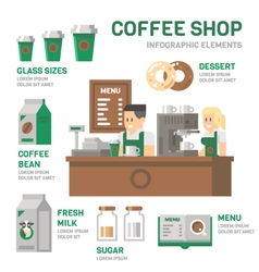 Coffee shop infographic flat design vector
