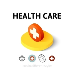Health care icon in different style vector