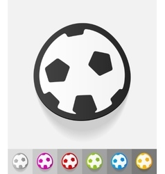 Realistic design element football vector