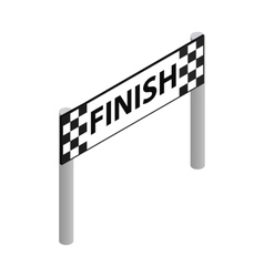 Finish line isometric 3d icon vector
