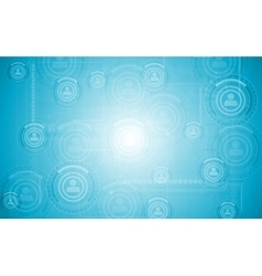 Light blue hi-tech background vector