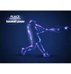 Motion design baseball batter hitting ball blur vector